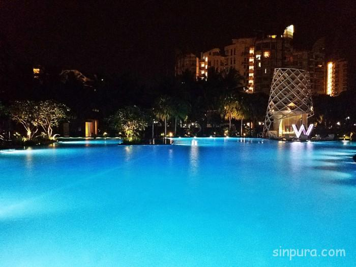 Wホテルシンガポールのプールを徹底調査!!営業時間は?雰囲気は?